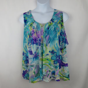 Dress Barn Floral Size 3x Top